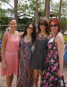 Sofia Samatar, Valya Lupescu, me and Kat Howard. Photo by Jim Kelly